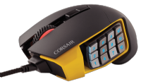 Mouse Gaming Scimitar RGB Yellow